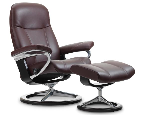Stressless Fauteuil Ambassador.Stressless Consul Leather Recliner Chairs